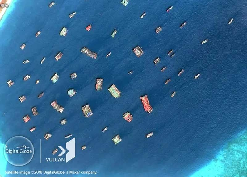 Satellite images show surge of China ships in West Philippine Sea