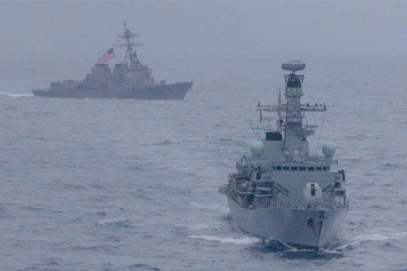 UK, US navies hold rare joint drills in South China Sea