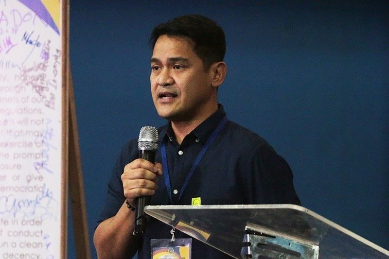 File photo shows senatorial candidate Jiggy Manicad. The veteran broadcast journalist said he believes press freedom is not under attack in the Philippines.