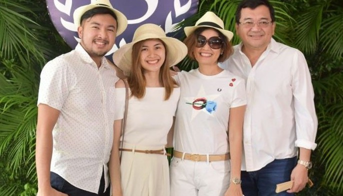 The Manigsaca family behind AppleOne Properties Inc. (from left) AVP for business development Patrick, Samantha, chair- man and VP Venus, and president/CEO Ray.