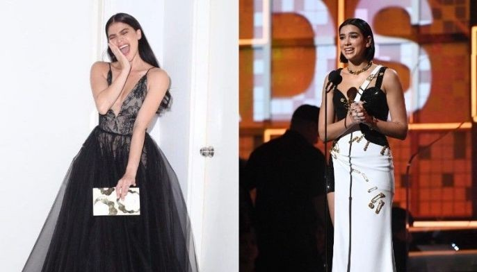 This composite photo shows actress Anne Curtis and Grammy Award-winning singer Dua Lipa.