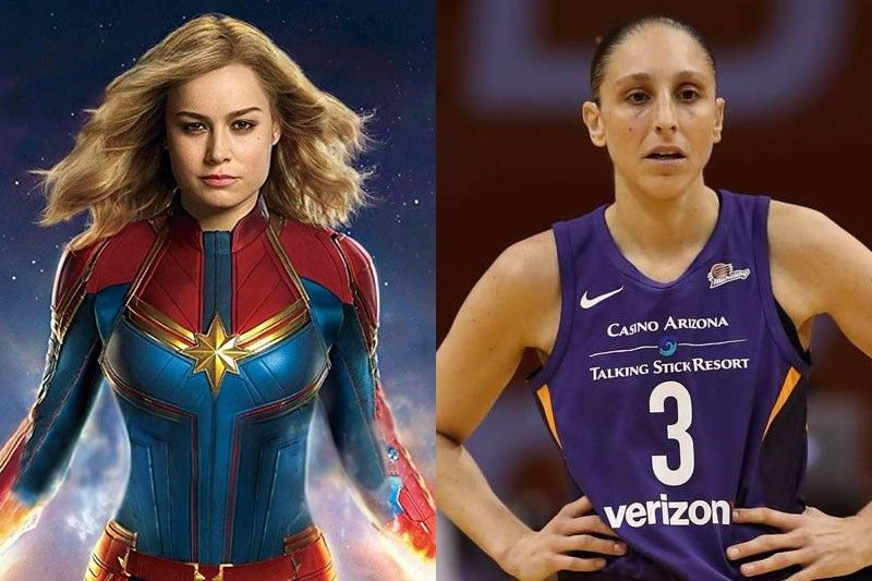 Brie Larson as Captain Marvel and Diana Taurasi
