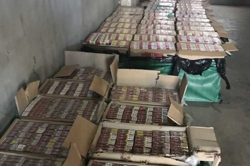 Authorities said the raids yielded more than 500 cases of fake cigarettes of Philip Morris Fortune Tobacco Corp. and JTI Corp. (Mighty and Marvel) brands and illicit whites.