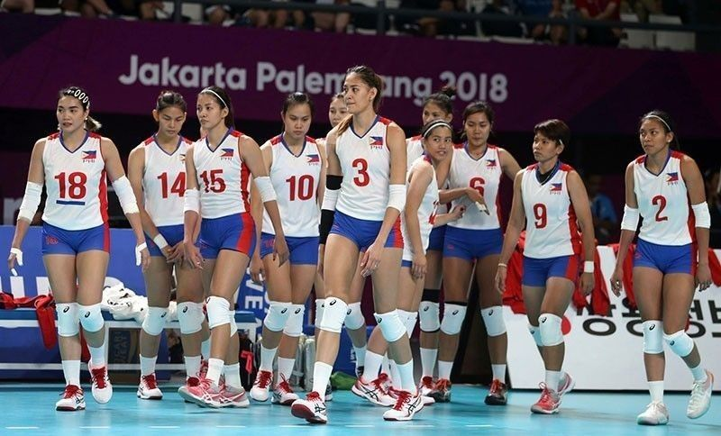 The Philippine Women's Volleyball Team in the 2018 Asian Games in Jakarta, Indonesia