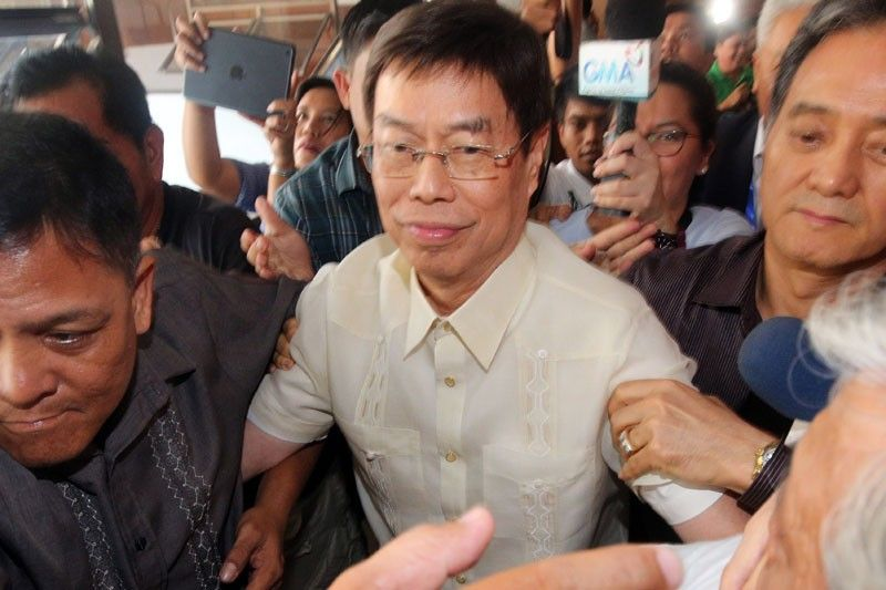 Lim has not been seen in public since the middle of last year when he was investigated by the Department of Justice.