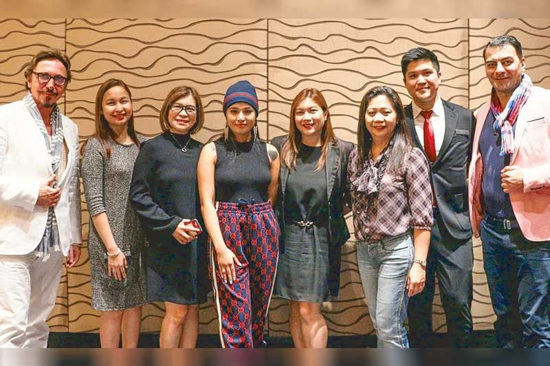 (From left) Miss Intercontinental Organization (MIO) CEO Detlef Tursies, The Bellevue Manila director of events Lorraine Reyes and resident manager Marivic Recio, Miss Intercontinental-Japan marketing Ezra Jaring, The Bellevue Manila marketing manager Jel Villarin, Miss Intercontinental-Japan CEO Joanna Leonisa Miyamae, The Bellevue Manila creatives supervisor Tim Santos and MIO VP Erkan Luis Demir.