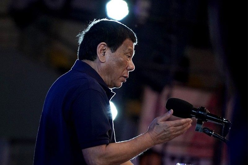 Duterte stresses Philippines not equipped to wage war with China