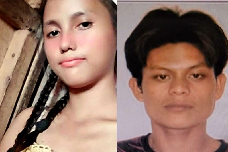 Photo right shows Jonas Bueno, a suspect in the  murder of Christine Lee Silawan (left) in Cebu. Police are scouring the mountainous terrain of Sogod town where the suspect was last seen.