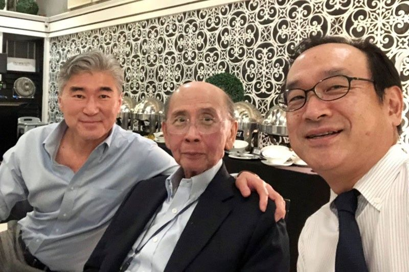 With US Ambassador Sung Kim and Japanese Ambassador Koji Haneda