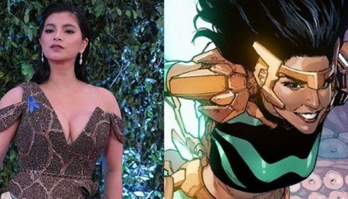 From left: Angel Locsin at the 2018 ABS-CBN Ball; Marvel's first Filipino superhero Wave.