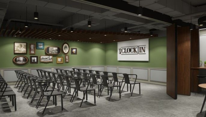 The 60-seater event space opens the floor for ideas, collaboration, and networking of like-minded business innovators.