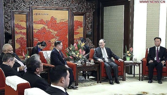 In the meeting, Chinese Vice President Wang Qishan called on the two sides to strengthen understanding of each other�s past and present.