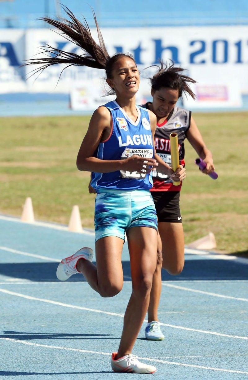 Raguine makes it a treble in Batang Pinoy