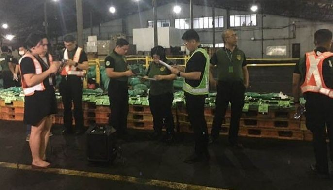 The Philippine Drug Enforcement Agency and Bureau of Customs with Philippine Coast Guard seized P1.8 billion worth of shabu that was concealed in 276 packs of tea placed inside a shipment from Vietnam.?