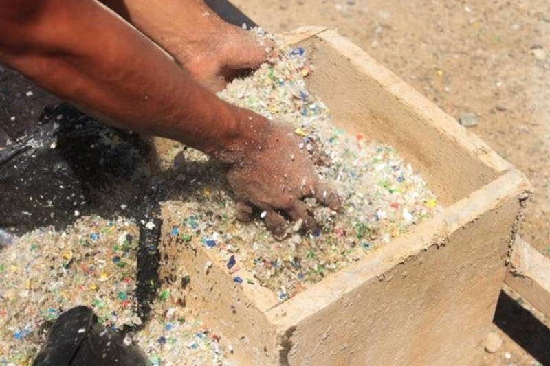 Paving roads with plastic bottles rescued from the sea