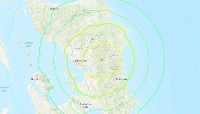 A magnitude 6.5 earthquake struck Eastern Samar Tuesday afternoon.