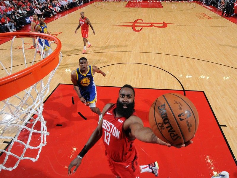 f5dddf629cbf James Harden of the Houston Rockets goes to the basket against the Golden  State Warriors during Game Four of the Western Conference Semifinals of the  2019 ...