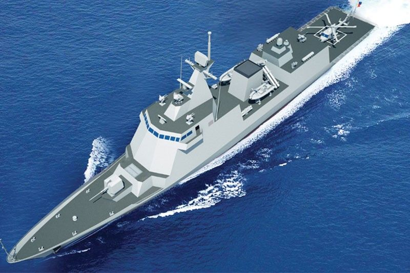 This model of a Philippine Navy frigate is posted on the official website of South Korean shipbuilder Hyundai Heavy Industries as one of its main products. Image: HHI/Released