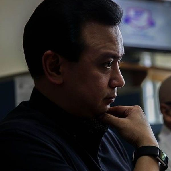 Sen. Antonio Trillanes IV waived his right to attend the hearing on May 27, 2019, his legal counsel Reynaldo Robles said.