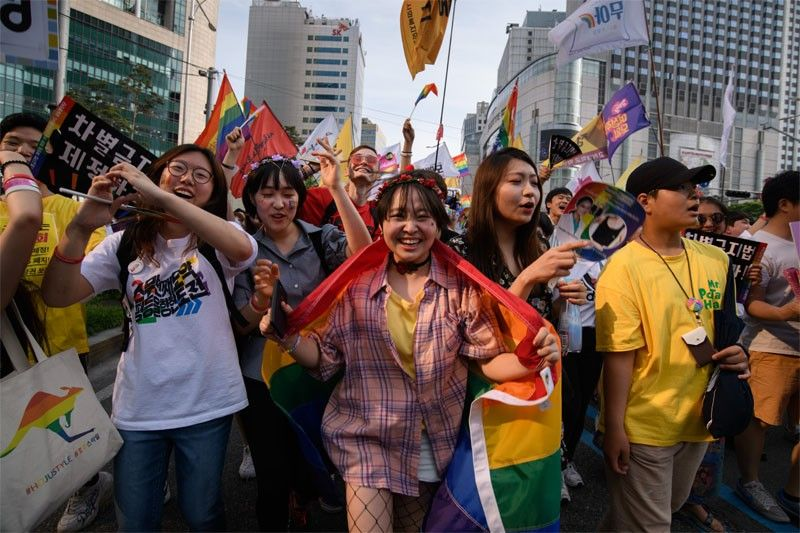 South Korea's pride parade marks 20 years in blaze of color