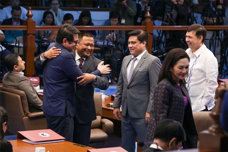 �Senate camaraderie at its best': Binay offers teaching post to Trillanes; outgoing senators sign off
