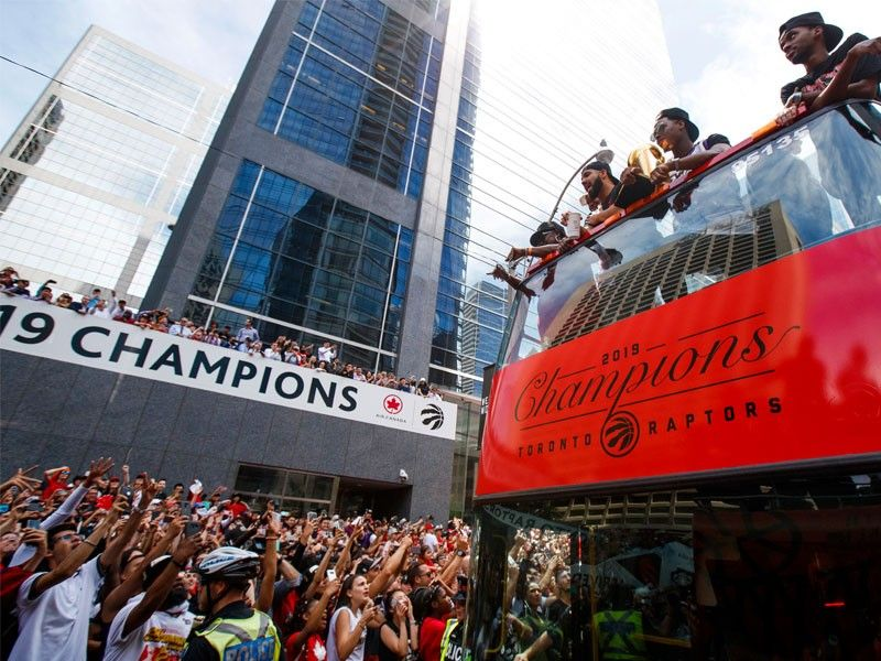 Shooting at rally mars Raptors celebration of NBA crown