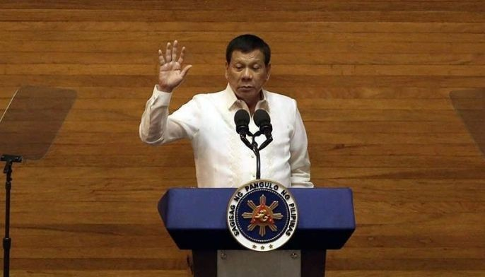 File photo shows President Rodrigo Duterte delivering his State of the Nation Address speech.