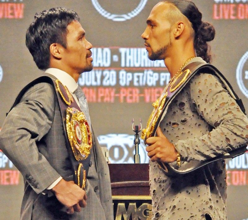 Pacquiao, Thurman all ready for weigh-in