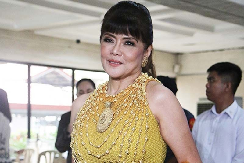 WATCH: Tired of political clashes, Imee wears red and yellow ombré dress in SONA 2019