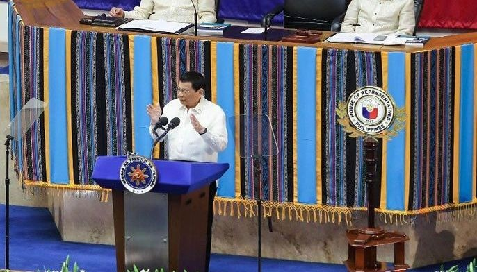 President Rodrigo Duterte delivers his 4th State of the Nation Address at the House of Representatives in Quezon City on July 22, 2019.