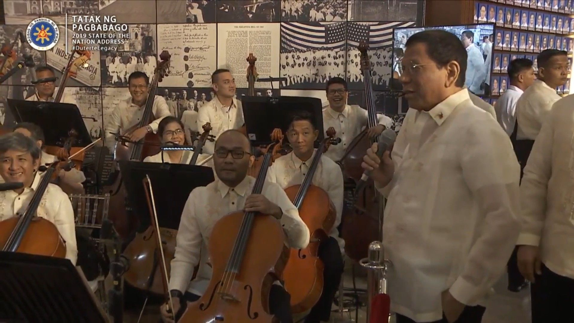 WATCH: Duterte sings as Philippine Philharmonic Orchestra plays his favorites | Philstar.com