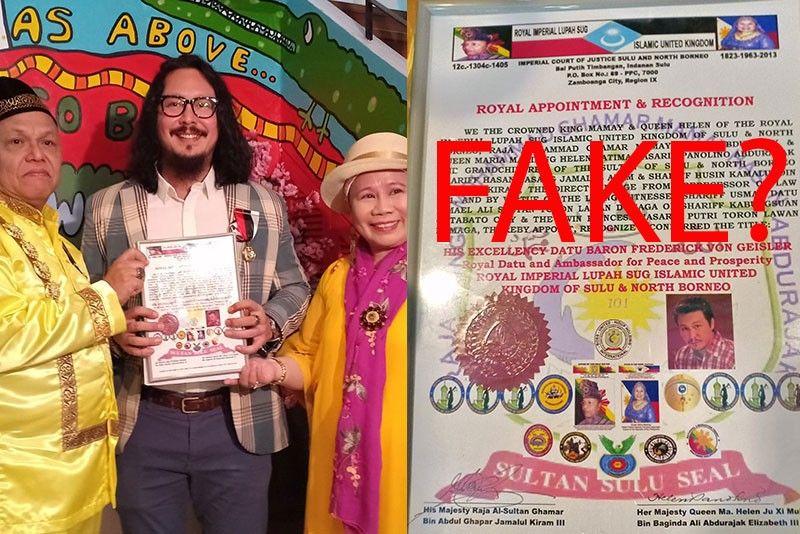 Fake datu? Baron Geisler reportedly conferred by �false� Sulu royals