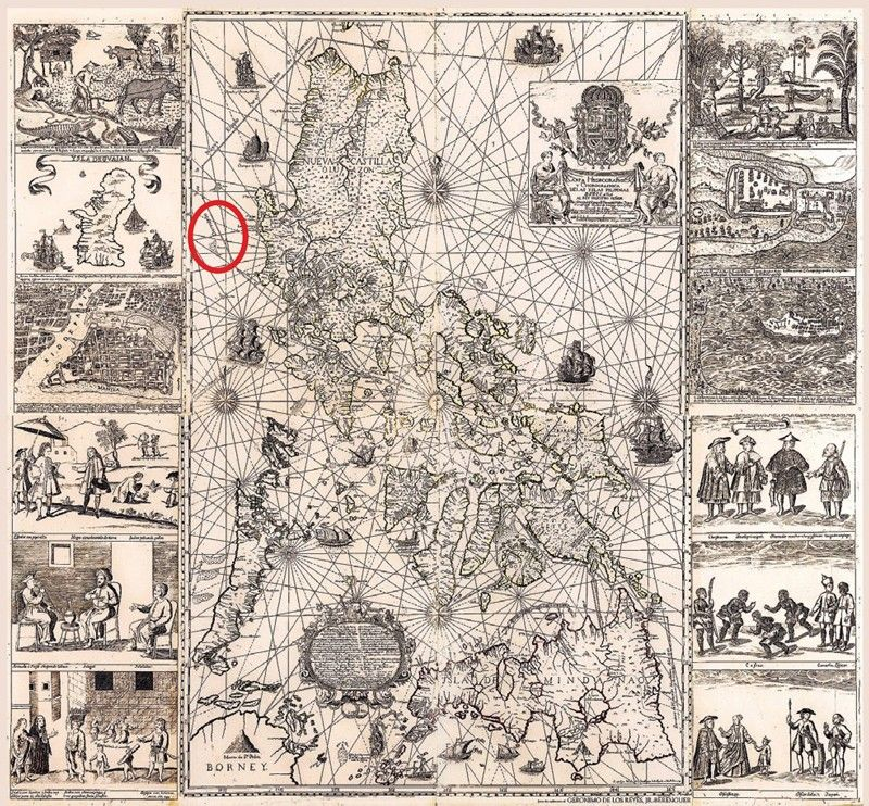 1734 map showing Panatag sold at auction for P46.7 million
