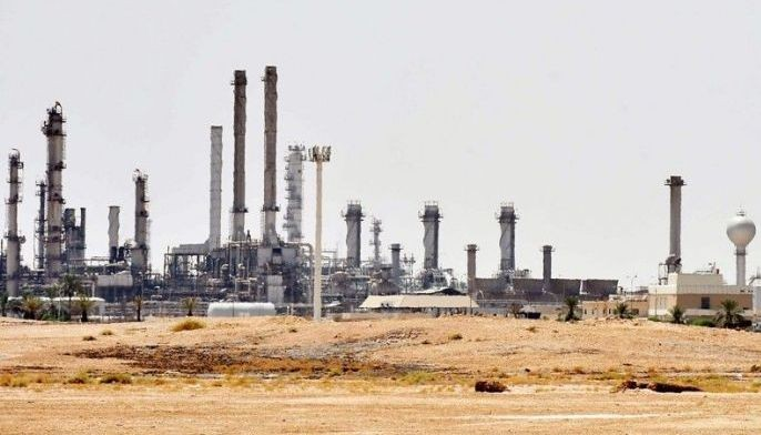 Photo taken Sept. 15, 2019 shows an Aramco oil facility near al-Khurj area, just outside the Saudi capital Riyadh. Saudi Arabia raced yesterday to restart operations at oil plants hit by drone attacks which slashed its production by half, as Iran dismissed US claims it was behind the assault.