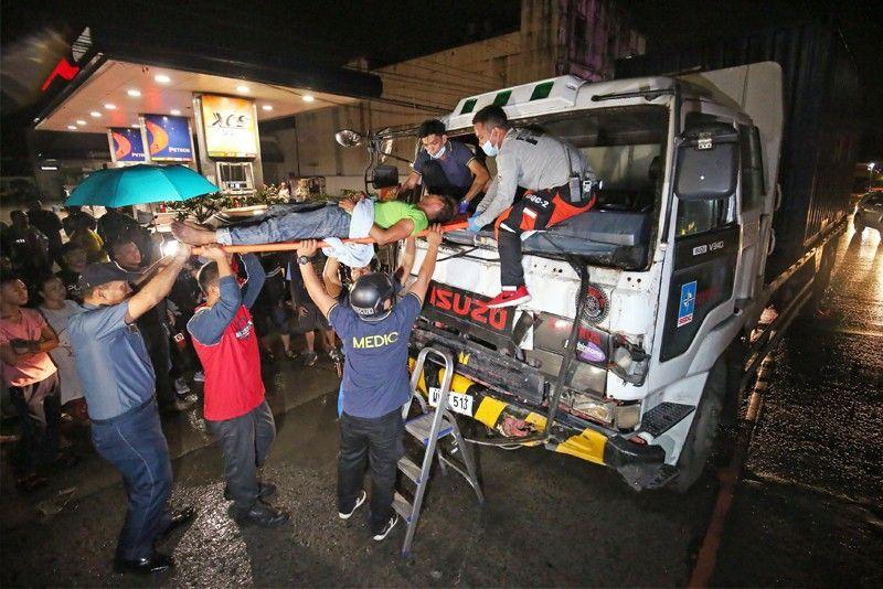 2 dead, 16 hurt as truck rams jeepney