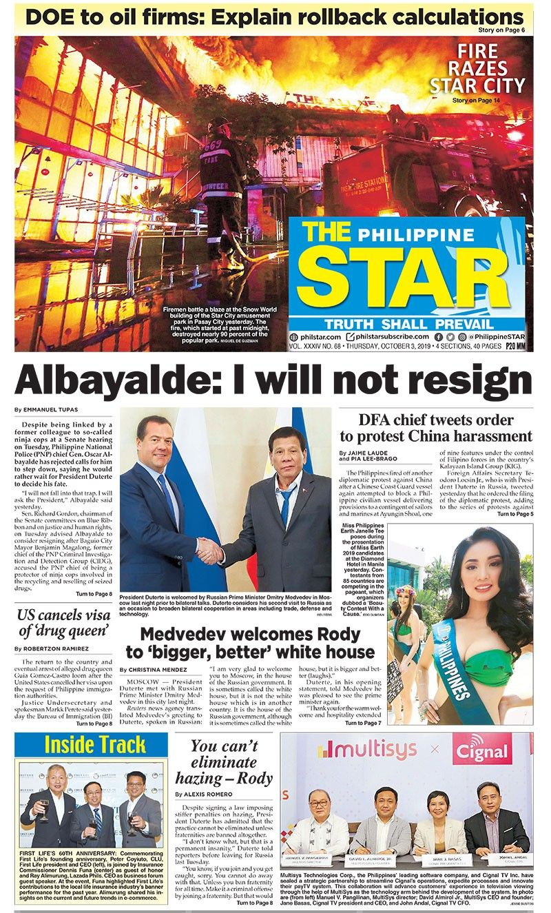 The STAR Cover (October 3, 2019)