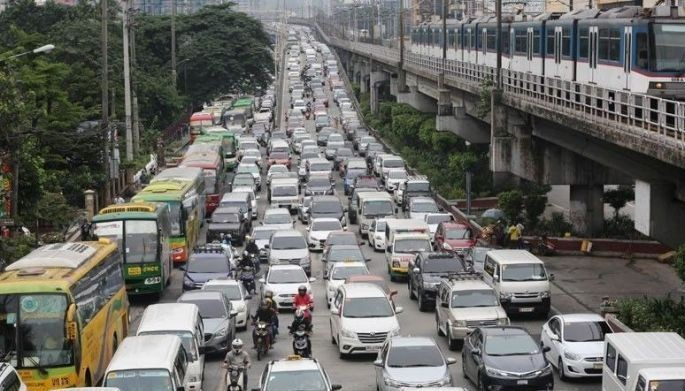 This undated photo shows a traffic standstill on EDSA.