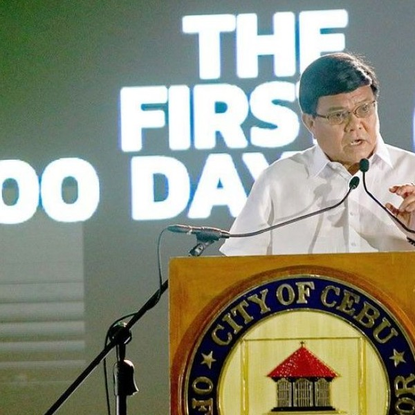 Cebu City Mayor Edgardo Labella reports his achievements in his first 100 days in office.