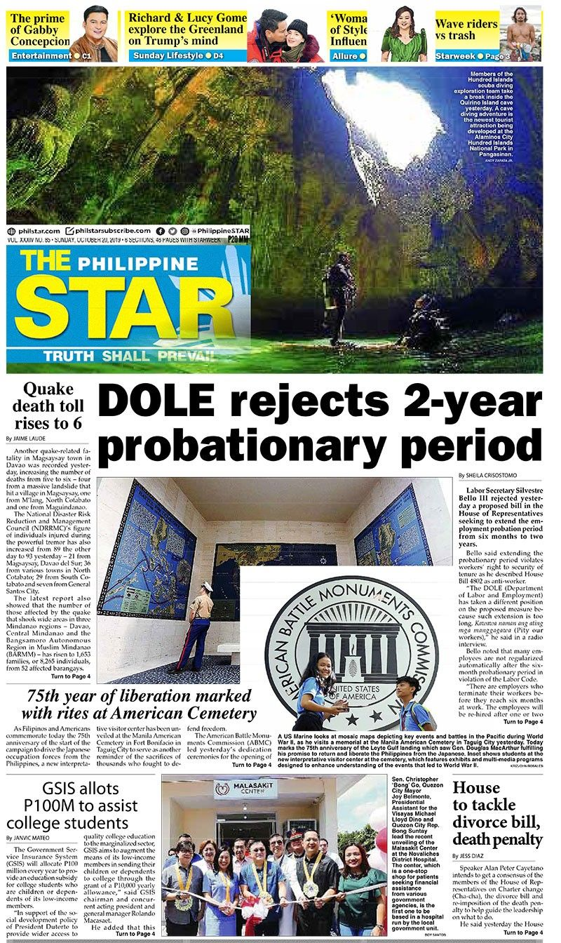 The STAR Cover (October 20, 2019)