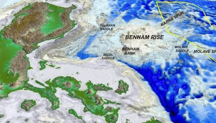 The undersea Benham Rise, or Benham Plateau, is considered the Philippines' extension as declared by the United Nations Commission on the Limits of the Continental Shelf.