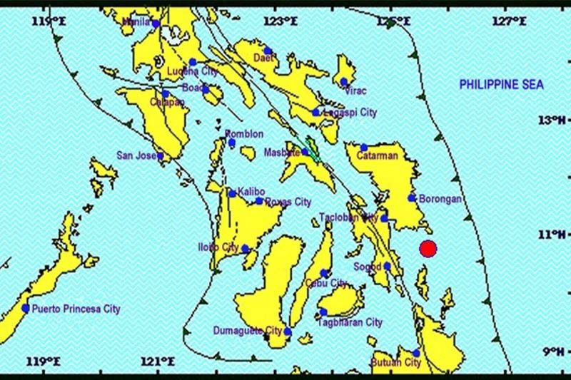 Magnitude 5.1 quake hits off Eastern Visayas coast