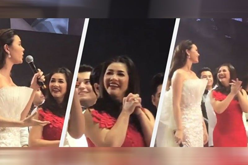 Nag-viral, Regine natigalgal kay Catriona