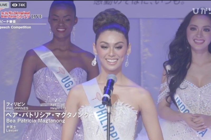 FULL TEXT: Philippines' Bea Patricia Magtanong's Miss International 2019 speech