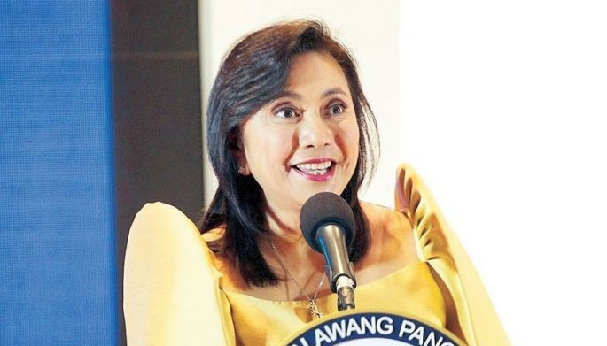 Vice President Leni Robredo speaks during the Women Today forum at the Marriott hotel in Pasay City yesterday. The forum, organized by The Philippine STAR, gathered several of the country�s most influential women to tackle various issues, including challenges facing female innovators.