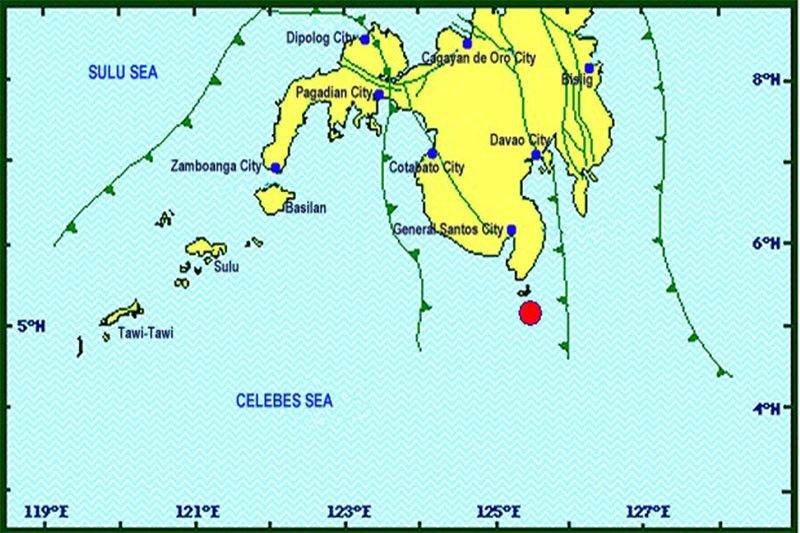 Magnitude 5 quake strikes off Davao Occidental