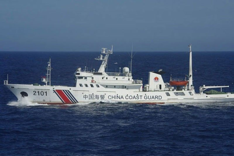 China Coast Guard entering foreign waters via artificial islands