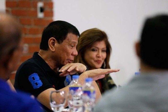 Rodrigo Duterte with Imee Marcos