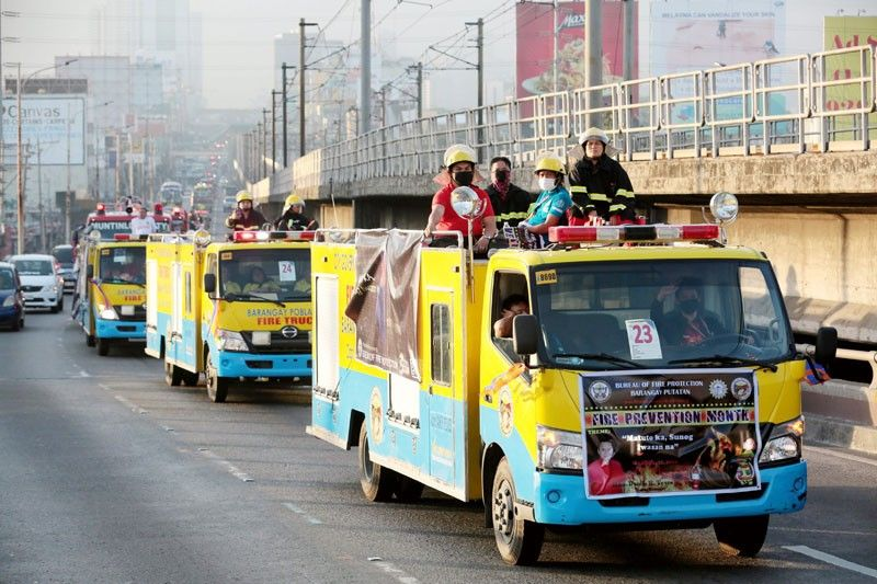BFP hopes fire truck parade will make Guinness record