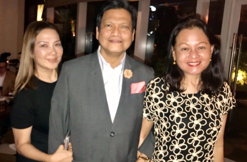 Noel Oñate celebrates with good friends over good food