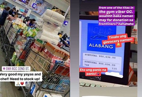 Alleged hoarder's near-P1M grocery bill, socialite's 'anti-poor' video go viral amid Luzon quarantine